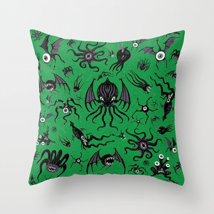 Cosmic Horror Critters Pillow Covers And Insert