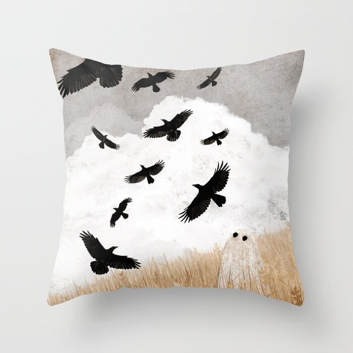 Walter And The Crows Pillow Covers And Insert
