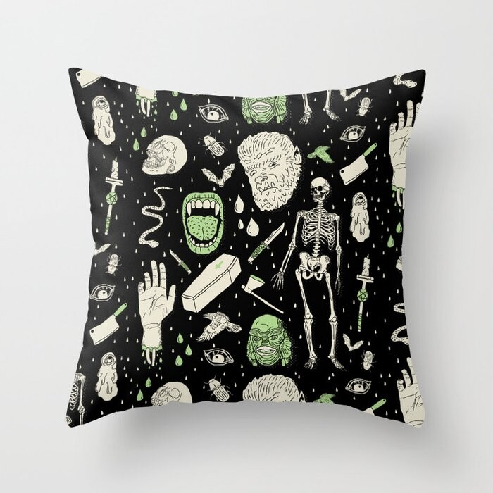 Whole Lotta Horror Pillow Covers And Insert