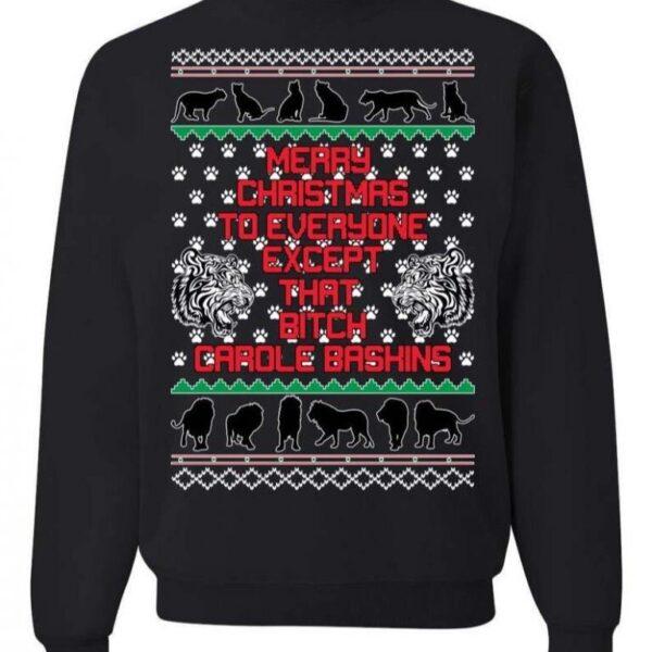 Christmas Sweater Tiger King Carole Baskins Sweatshirt